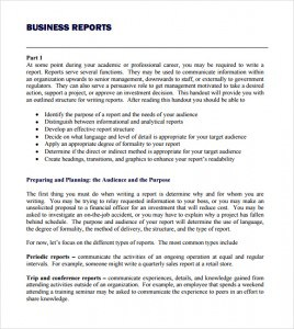 business reports templates