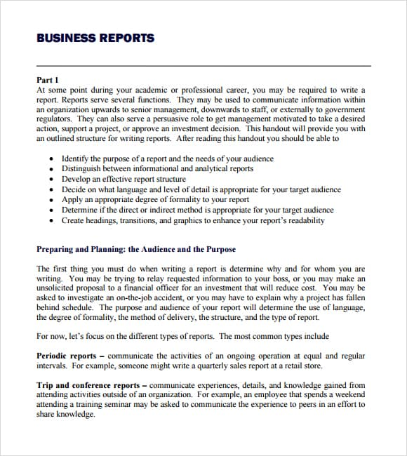 writing business reports examples The essential handbook for business writing: proposals & reports components of a proposal components of a report sample proposals sample reports executive summary.