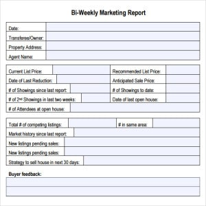 marketing report template image