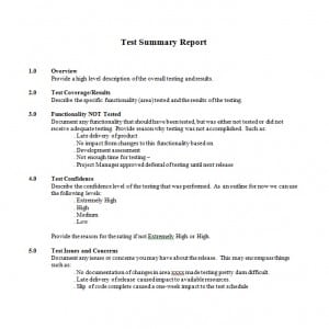 Test Template Word | Test Report Template Writing Word Excel Format